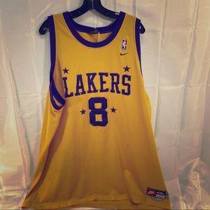 LA Lakers Kobe Bryant #8 Nike basketball jersey.